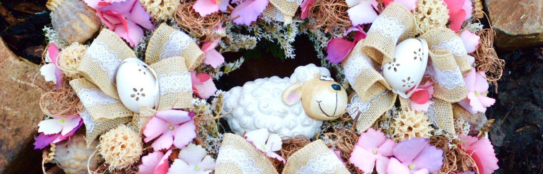 Věnec s ovečkou