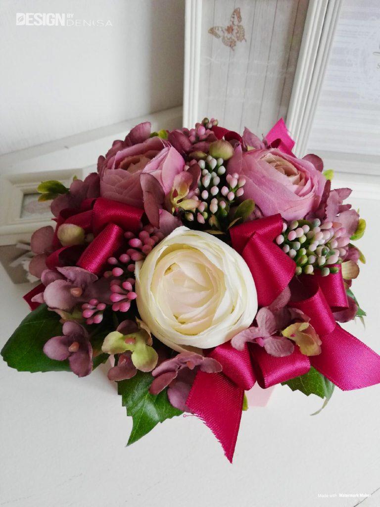 Růžový flower box