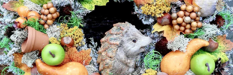 Věnec s ježkem